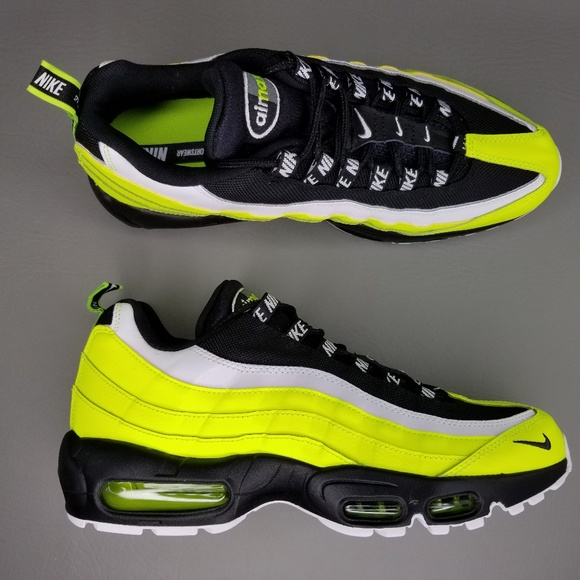 Nike Air Max 95 PRM Volt Glow Athletic Shoes 9.5 NWT